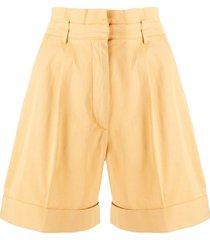 baum und pferdgarten twill wide-leg shorts - yellow