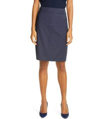 women's boss vasteria microcheck wool blend skirt