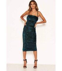 ax paris women's velvet ruched bodycon dress