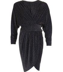 iro jurk magnus -zilver zwart