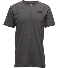 m s/s red box tee t-shirts short-sleeved grå the north face