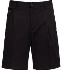 dolce & gabbana black jersey bermuda shorts