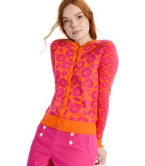charter club petite floral-print cardigan, created for macy's