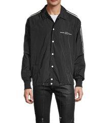 diesel men's j akito luni snap-button jacket - black - size xl