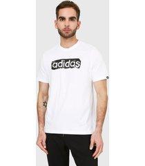 camiseta blanco-negro adidas performance fitness graphique