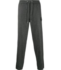 moncler slim-fit wool trousers - grey