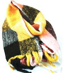 bufanda de lana amarillo negro niba