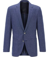 boss men's haylon dark blue jacket