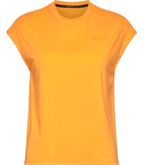 unity tee t-shirts & tops sleeveless orange röhnisch