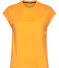 unity tee t-shirts & tops sleeveless orange röhnisch