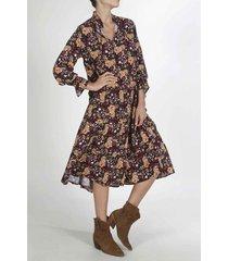 vestido para mujer tennis, largo y estampado de flores