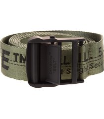 off-white man military green and black classic industrial belt