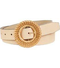 steve madden pebble belt with round woven buckle