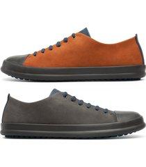 camper twins, sneaker uomo, blu/grigio/marrone, misura 46 (eu), k100550-006