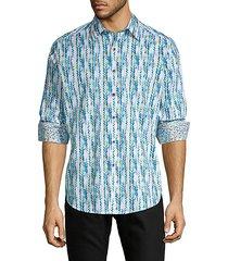 classic-fit chevron long sleeve shirt