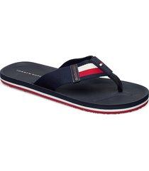 sporty corporate bea shoes summer shoes flip flops blå tommy hilfiger