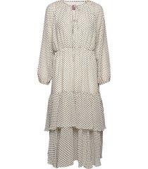 laurene dots jurk knielengte crème line of oslo