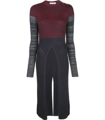 chloé ribbed long sweater - red