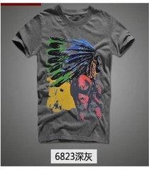camisetas hombre playeras manga corta t-shirt caballero moda - gris oscuro