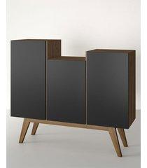aparador buffet/bar elegance preto estilare móveis