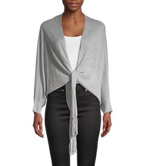 shimmer linen-blend cardigan