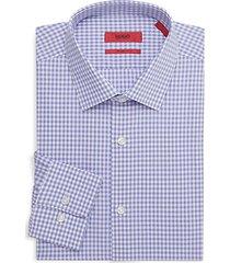 sharp-fit gingham dress shirt