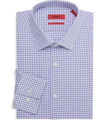 sharp-fit gingham dress shirt