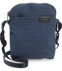 men's bellroy water repellent city pouch crossbody bag - blue