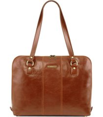 tuscany leather tl141795 ravenna - esclusiva borsa business per donna miele
