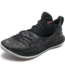 tenis basketball negro-multicolor under armour curry 5