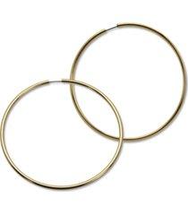 """guess 1 1/2"""" large endless hoop earrings"""