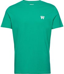 ss sign off tee t-shirts short-sleeved grön wrangler