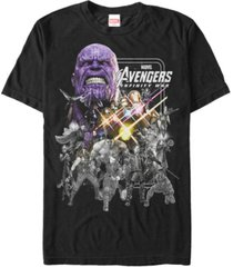 marvel men's avengers infinity war group shot poster short sleeve t-shirt