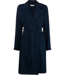 p.a.r.o.s.h. belted tailored coat - blue