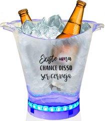 balde de gelo com led personalizado para live - tema cerveja
