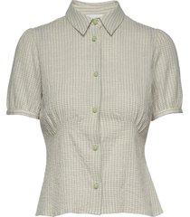 lila shirt overhemd met korte mouwen groen wood wood