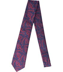 gravata alfaiataria burguesia jacquard 1260 fios azul marinho - kanui