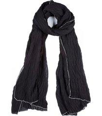 pañuelo plisado negro humana
