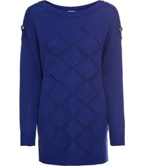 maglione con bottoni (blu) - bodyflirt boutique