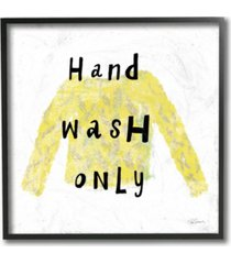 "stupell industries hand wash only yellow sweater framed giclee art, 12"" x 12"""