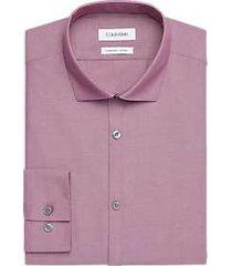calvin klein plum extreme slim fit dress shirt