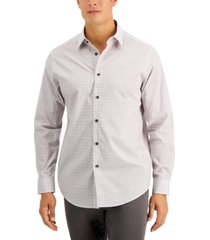 tasso elba men's grattugia square line shirt, created for macy's