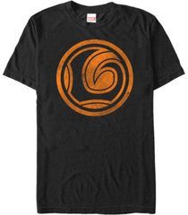 marvel men's loki distressed orange logo short sleeve t-shirt
