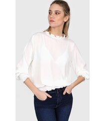 blusa blanca nano gala 0520