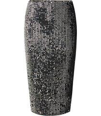 sequin velvet tube skirt