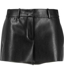ermanno scervino faux-leather tailored shorts - black