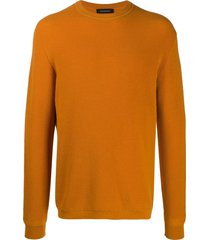 ermenegildo zegna cashmere-wool mix knit sweatshirt - yellow