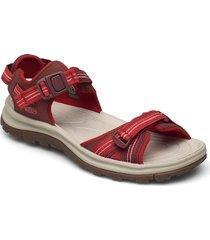 ke terradora ii open toe sandal w dark red-coral shoes sport shoes outdoor/hiking shoes röd keen