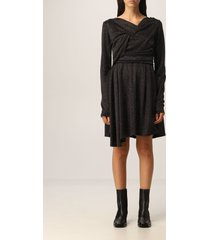 msgm dress msgm short dress in fabric with micro lamé discs