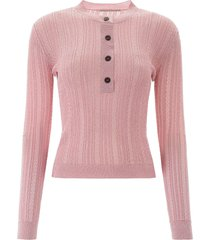 marco de vincenzo semi sheer knit top